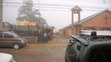 Church in the rain