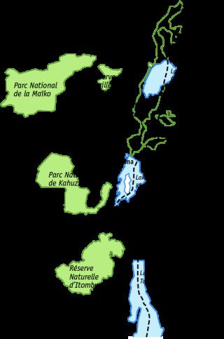 Distribution of the Grauer's gorilla (© Angela Meder). Gorilla number: unsure, possibly ca. 3800